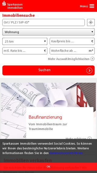 Mobile preview of immobilien.sparkasse.de