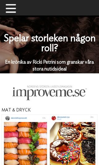 Mobile preview of improveme.se