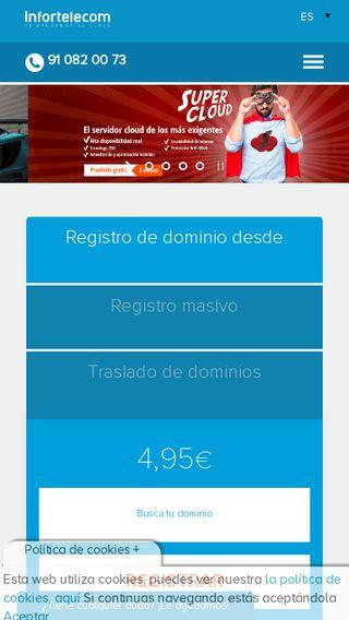 Mobile preview of infortelecom.es