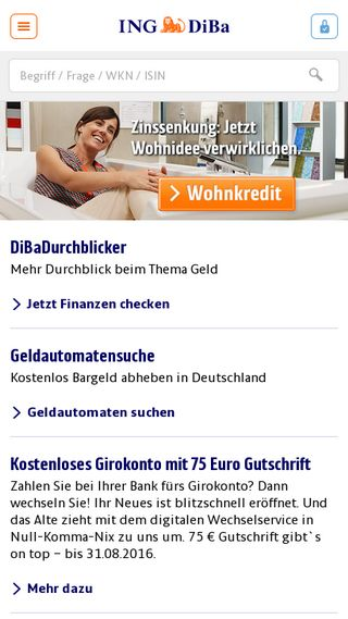 Mobile preview of ing-diba.de