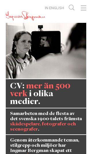Mobile preview of ingmarbergman.se