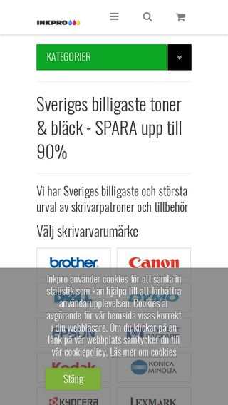 Mobile preview of inkpro.se