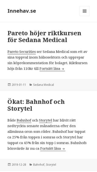 Mobile preview of firstpost.se