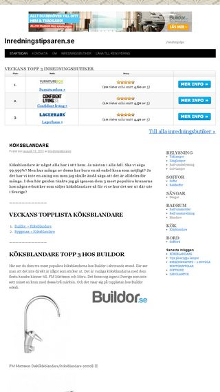 Mobile preview of inredningstipsaren.se