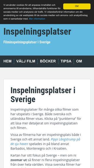 Mobile preview of inspelningsplatser.se
