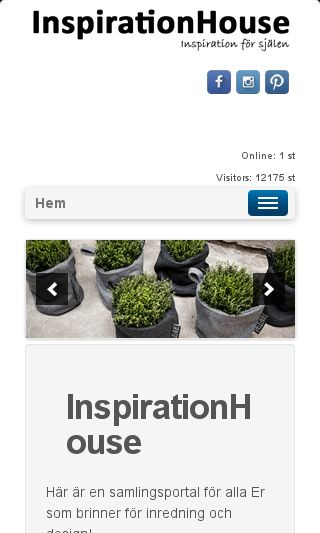 Mobile preview of inspirationhouse.se