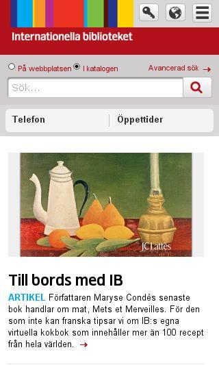 Mobile preview of interbib.se
