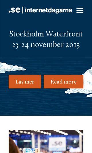 Mobile preview of internetdagarna.se