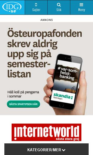 Mobile preview of internetworld.idg.se