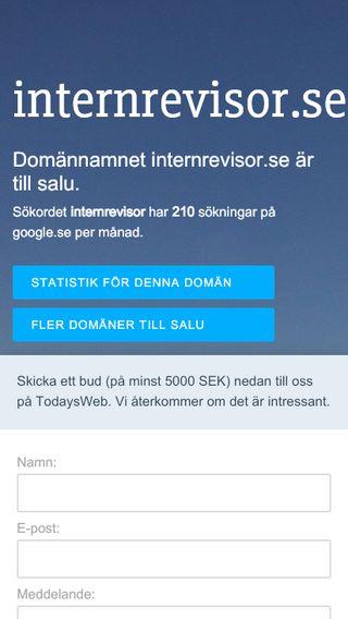 Mobile preview of internrevisor.se
