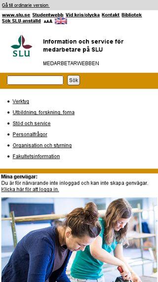 Mobile preview of internt.slu.se