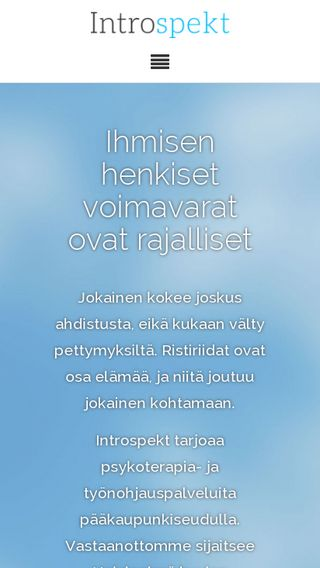 Mobile preview of introspekt.fi