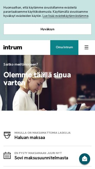 Mobile preview of intrum.fi