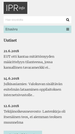 Mobile preview of iprinfo.fi