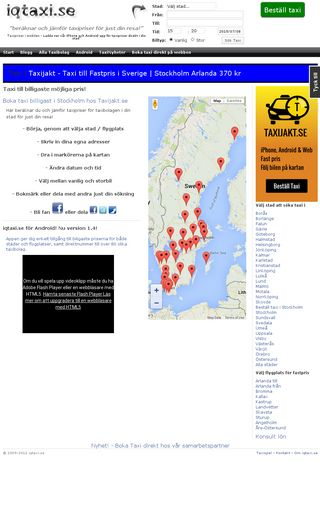Mobile preview of iqtaxi.se