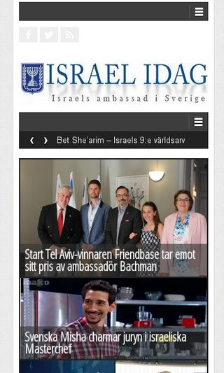 Mobile preview of israelidag.se