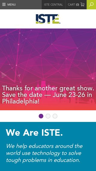 Mobile preview of iste.org