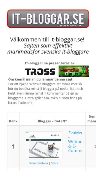 Mobile preview of it-bloggar.se