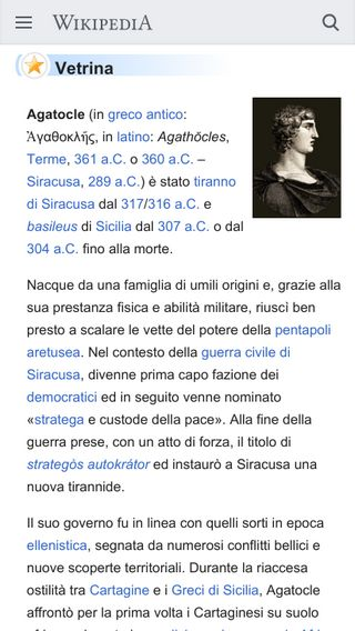 Mobile preview of it.wikipedia.org