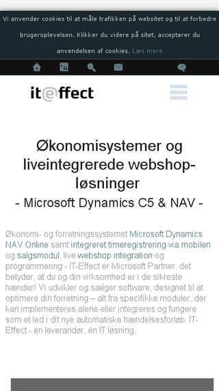 Mobile preview of iteffect.dk