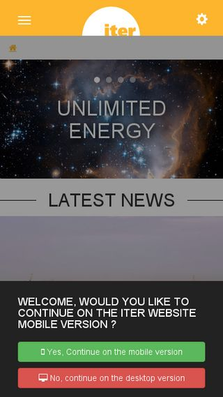 Mobile preview of iter.org
