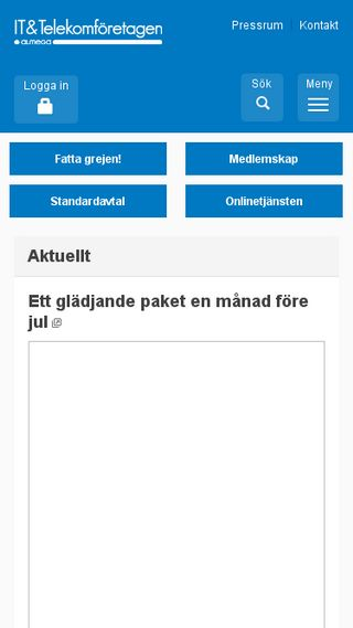 Mobile preview of itot.se