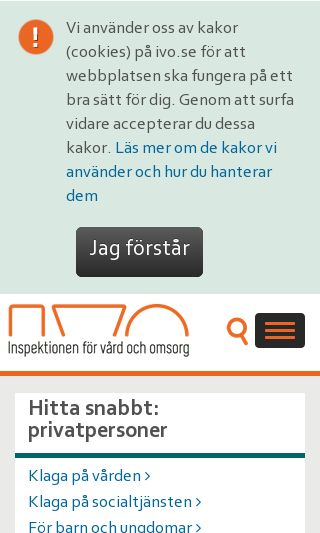 Mobile preview of ivo.se