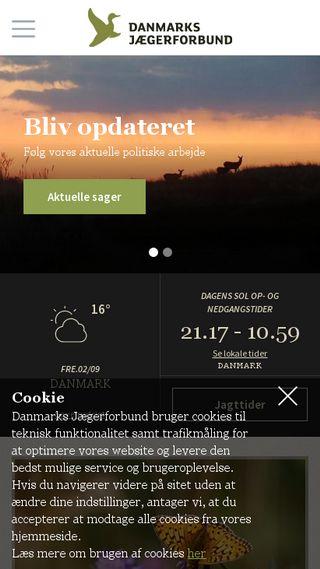 Mobile preview of jaegerforbundet.dk