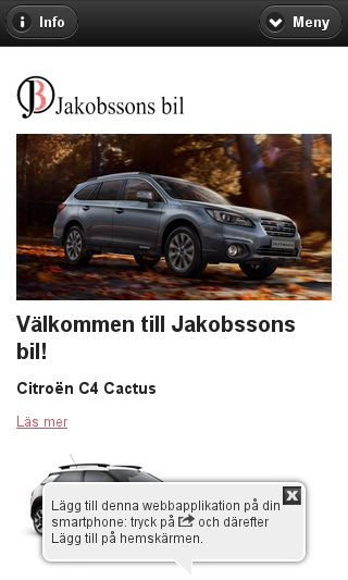 Mobile preview of jakobssonsbil.se