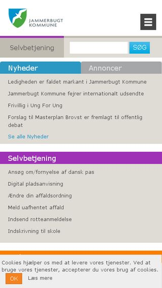 Mobile preview of jammerbugt.dk