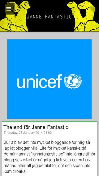 Mobile preview of jannefantastic.blogg.se