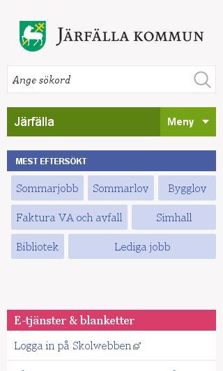 Mobile preview of jarfalla.se