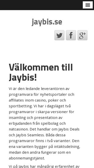 Mobile preview of jaybis.se