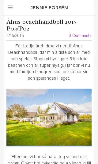 Mobile preview of jennieforsen.se