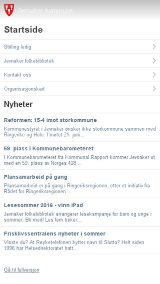 Mobile preview of ringeriksavisa.no