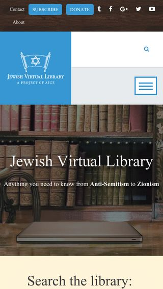 Mobile preview of jewishvirtuallibrary.org