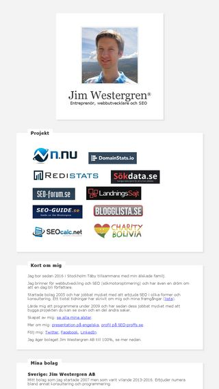 Mobile preview of jimwestergren.se