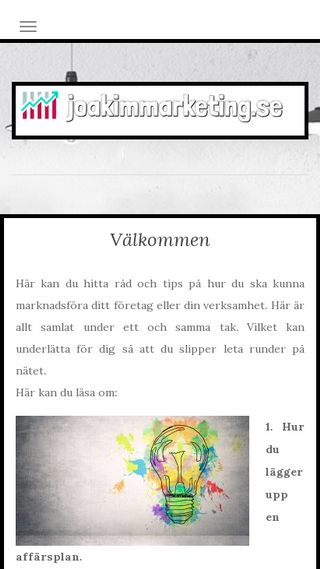Mobile preview of joakimmarketing.se