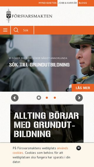 Mobile preview of jobb.forsvarsmakten.se