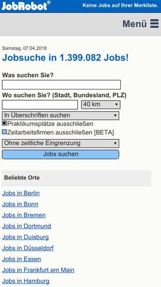 Mobile preview of jobrobot.de