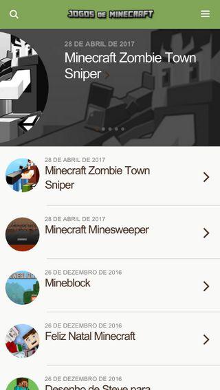 Mobile preview of jogosdeminecraft.com.br