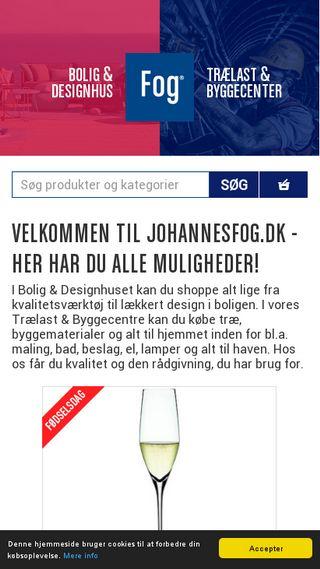 Mobile preview of johannesfog.dk