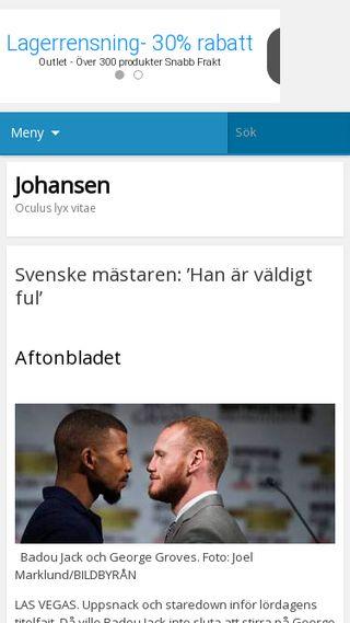 Mobile preview of johansen.se