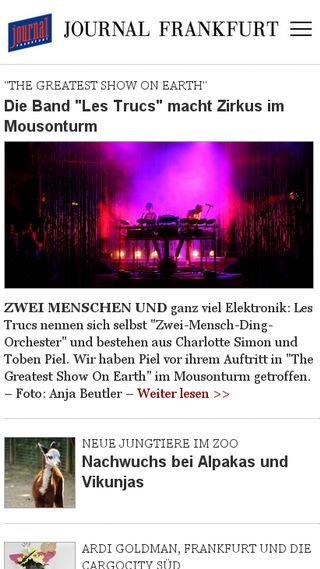 Mobile preview of journal-frankfurt.de