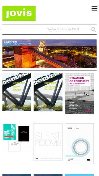 Mobile preview of jovis.de