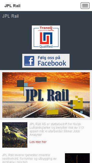 Mobile preview of jplrail.no