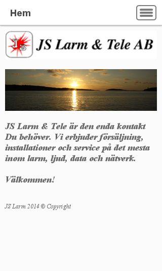 Mobile preview of jslarm.se
