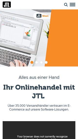 Mobile preview of jtl-software.de