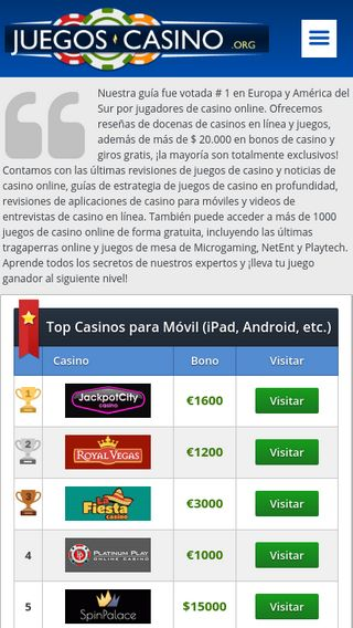 Mobile preview of juegos-casino.org