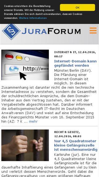 Mobile preview of juraforum.de